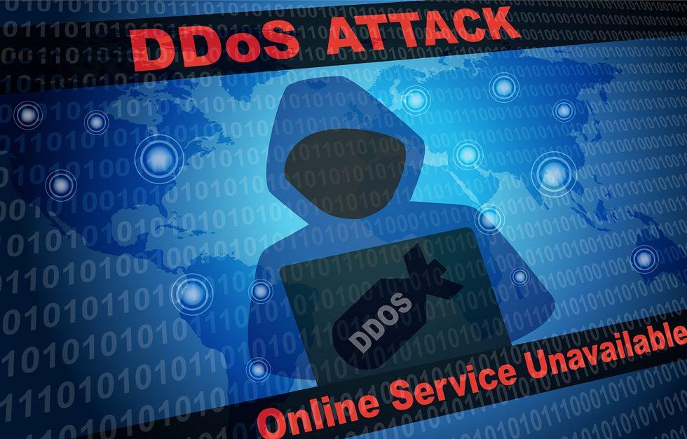 DDoS Attack Online Service Unavailable